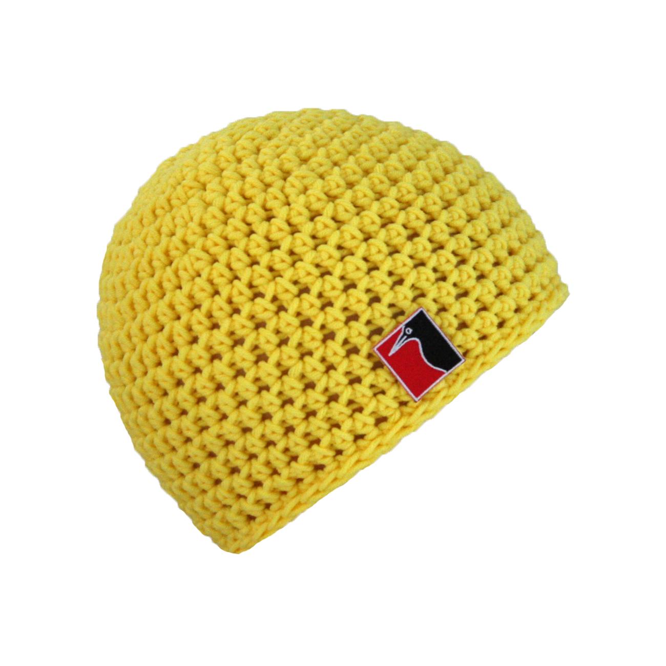 gehäkelte Sommermütze gelb