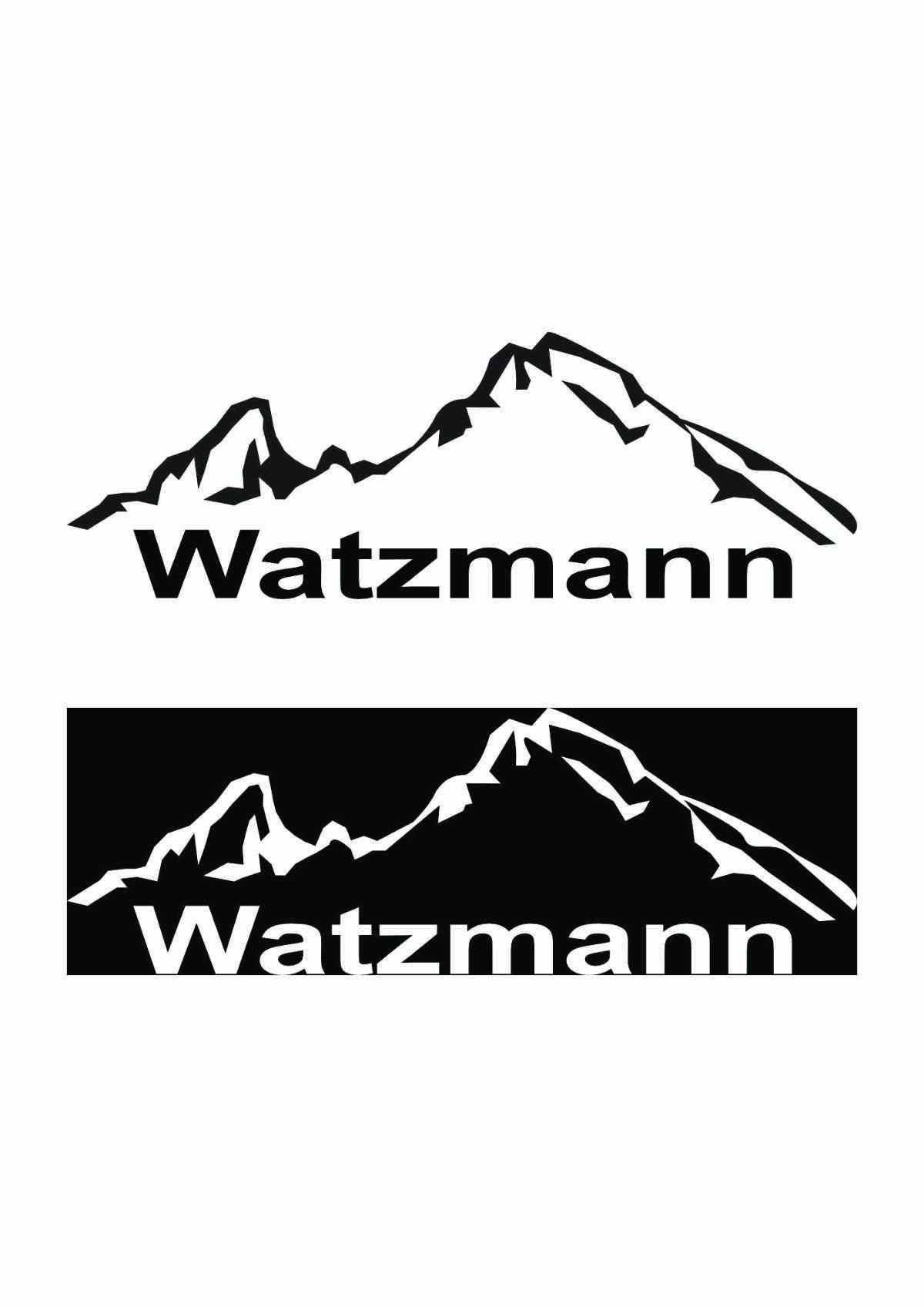 Auto Aufkleber Sticker Berg Watzmann - 2 Modelle zur Wahl