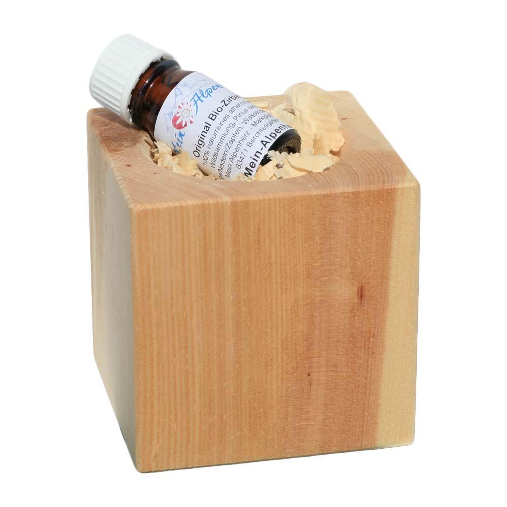 Zirbenwürfel inkl. 5ml Bio Zirbenöl Handarbeit