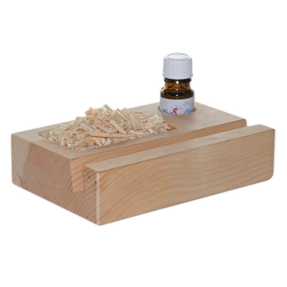 Zirbenholz Handyhalter Handyhalterung inkl. 5ml Bio Zirbenöl