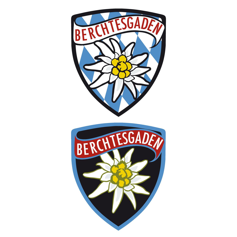 Wappen Aufkleber Sticker Berchtesgaden - beide Aufkleber zusammen