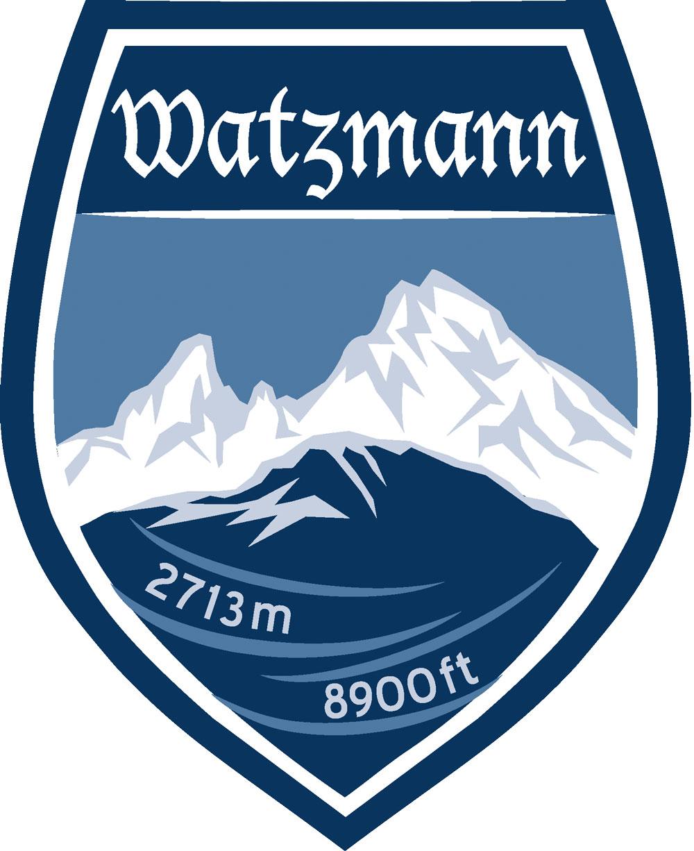 Wappen Aufkleber Sticker Watzmann - Modell grün