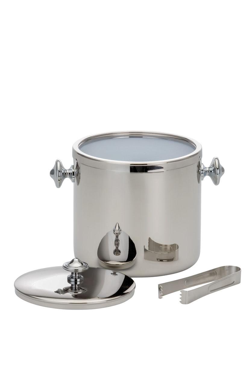Eiswürfelbehälter - Eiswürfelbecher Edelstahl - inkl. Zange