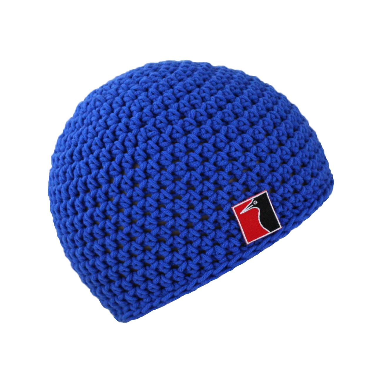 gehäkelte Sommermütze blau