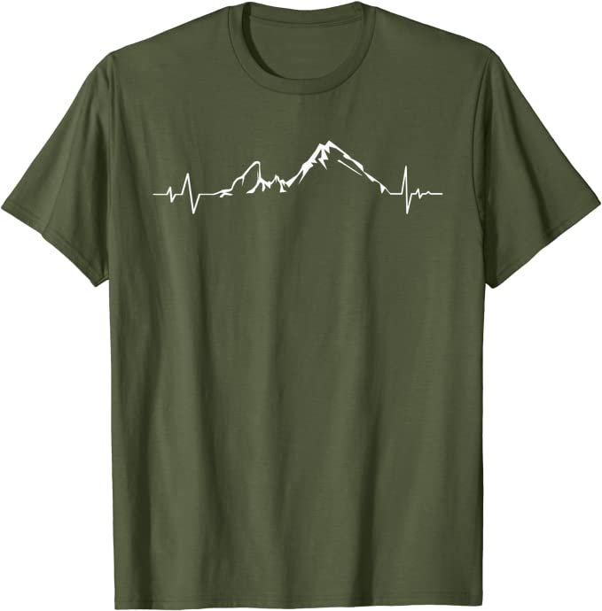 Original Berg Watzmann Herzschlag EKG T-Shirt für Männer Frauen Kinder