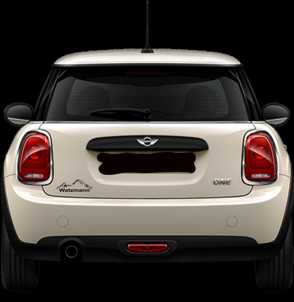 Auto Aufkleber Sticker Berg Watzmann - Farbe schwarz