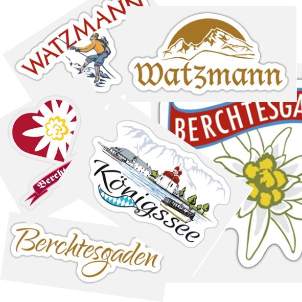 Aufkleber - Berchtesgaden, Watzmann, Königssee, Eagles´s Nest