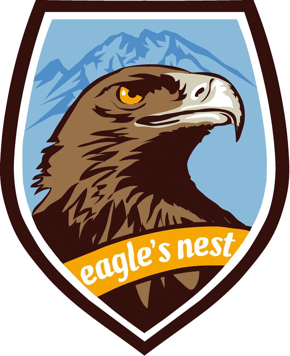 Wappen Aufkleber Sticker Eagles Nest