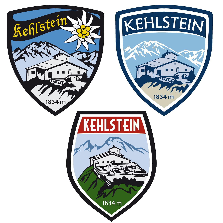 Wappen Aufkleber Sticker Kehlstein - Kehlsteinhaus - Eagles Nest  - Motiv grün/rot