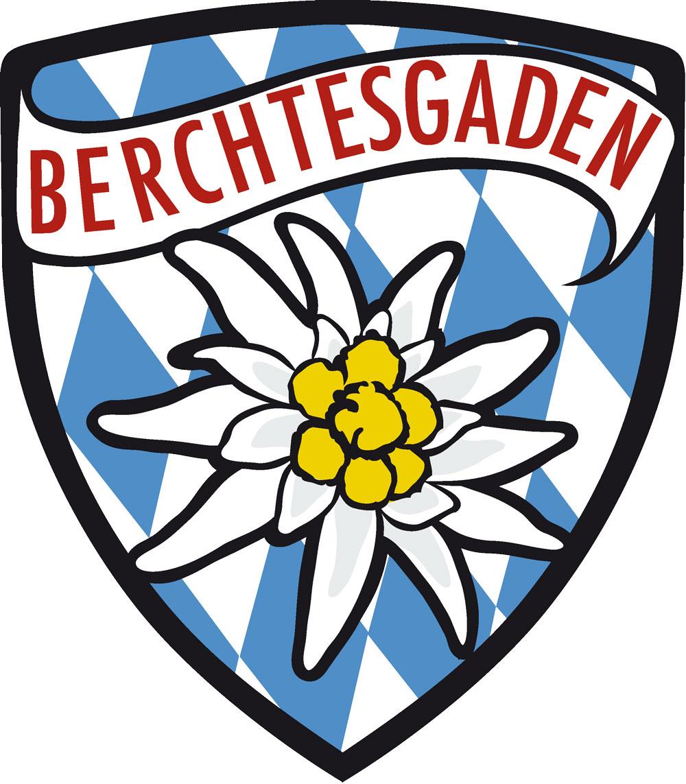 Wappen Aufkleber Sticker Berchtesgaden - Modell Edelweiß Raute